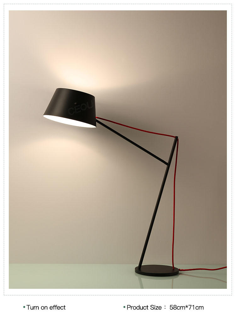 black reading lamp supplier for residential CEOU-1
