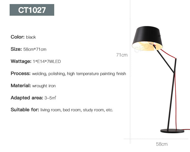 black reading lamp supplier for residential CEOU-3