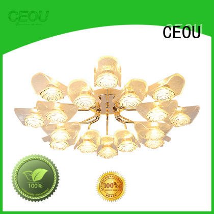 CEOU gold crystal ceiling lights manufacturer for hotel