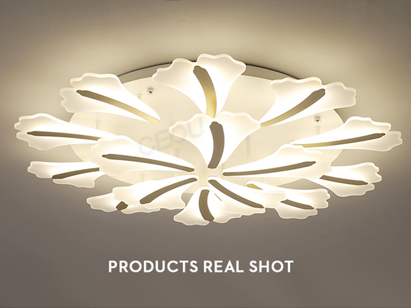 creative led surface mount ceiling lights glass customized for bedroom-2