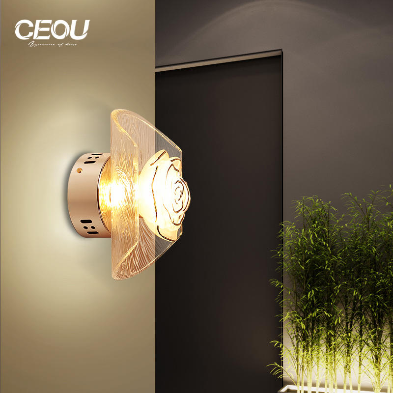 Indoor modern flower glass wall lamp/ceiling light CB1016-1