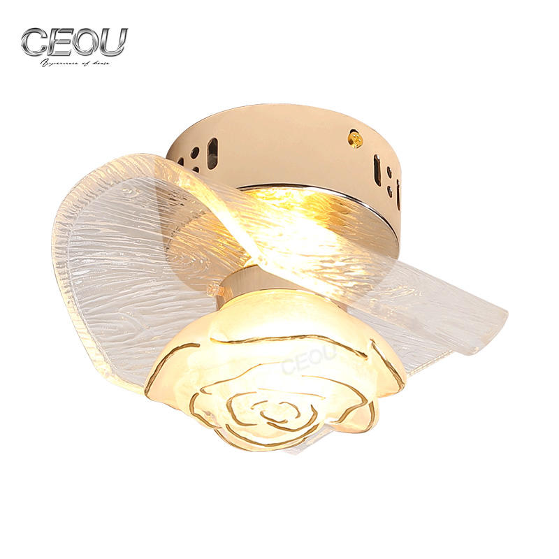 Indoor modern flower glass wall lamp/ceiling light CB1016-1