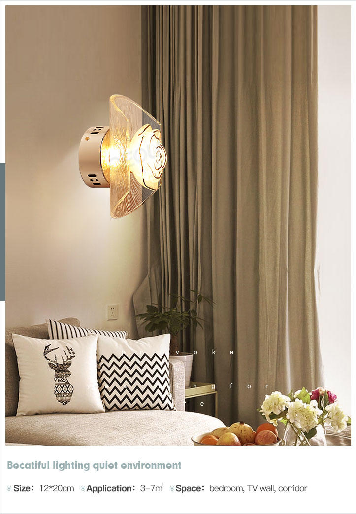 romantic wall lamp aluminum manufacturer for living room