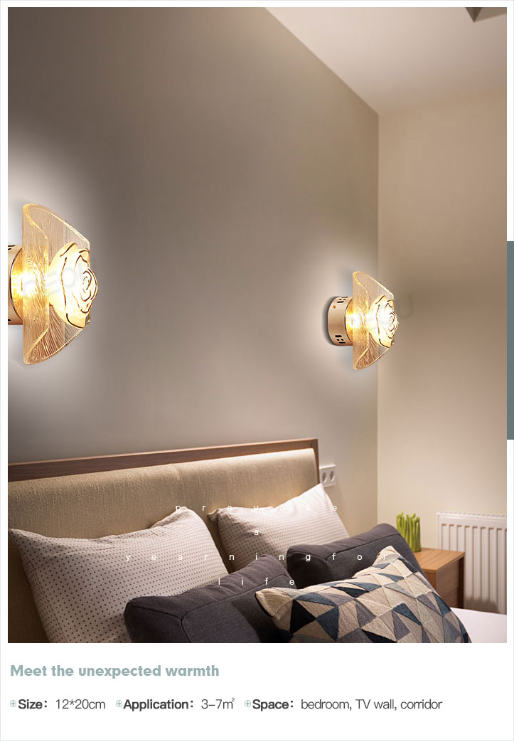 romantic wall lamp aluminum manufacturer for living room-10