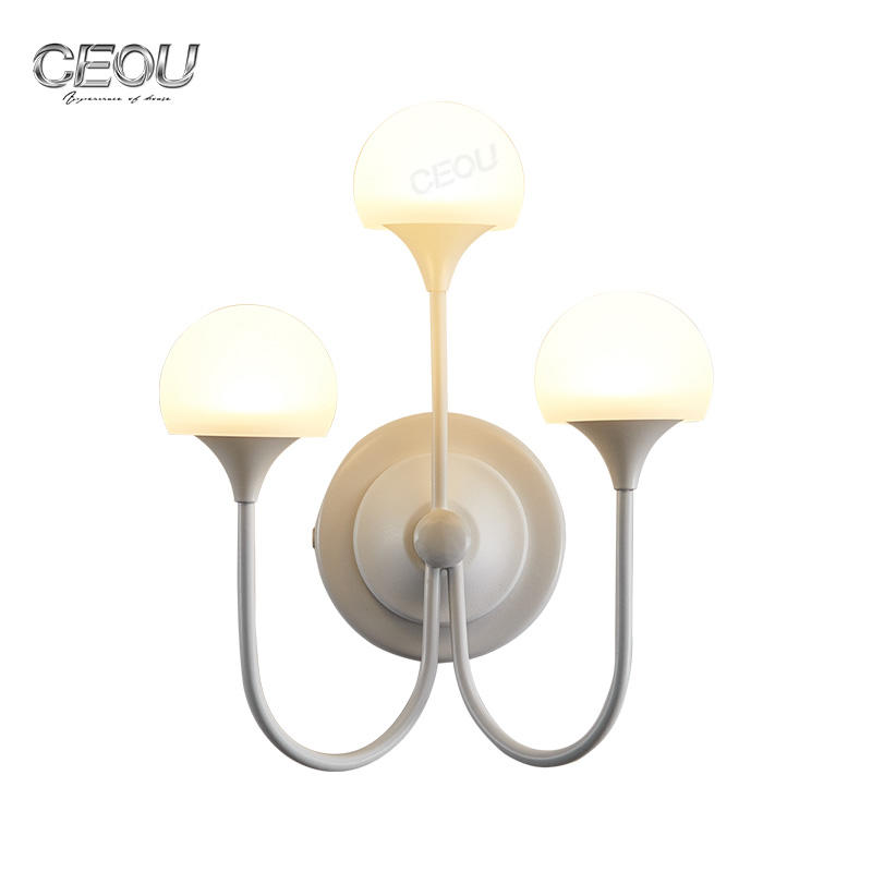 Mushroom shaped fancy high transparency led wall lamp CB1026