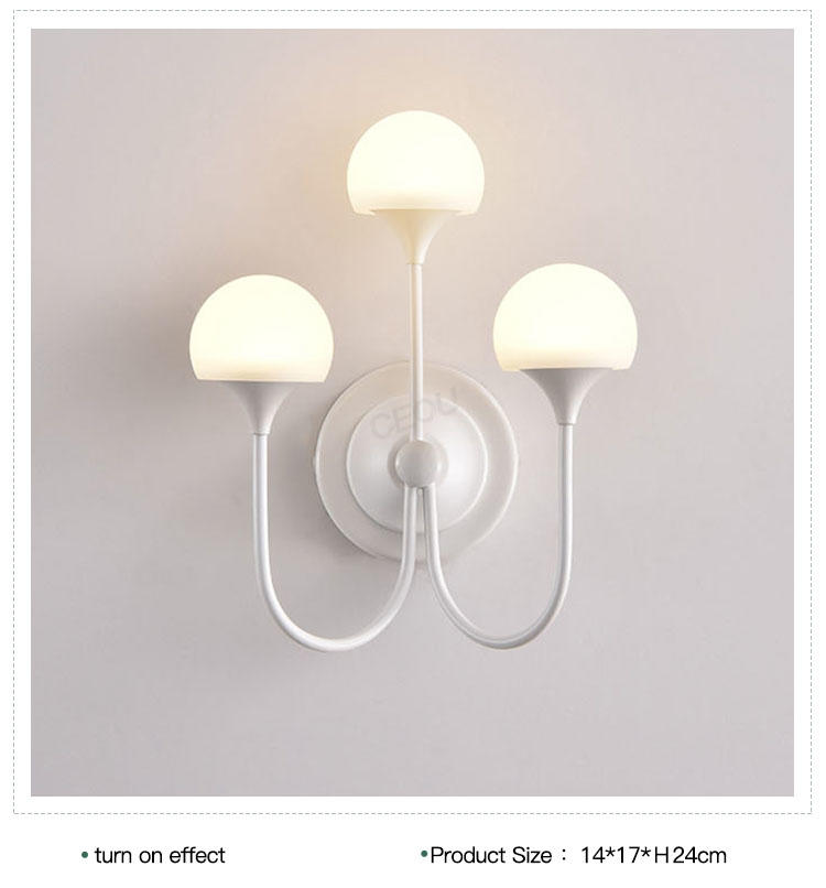 CEOU mushroom shaped glass wall lights manufacturer for home decor