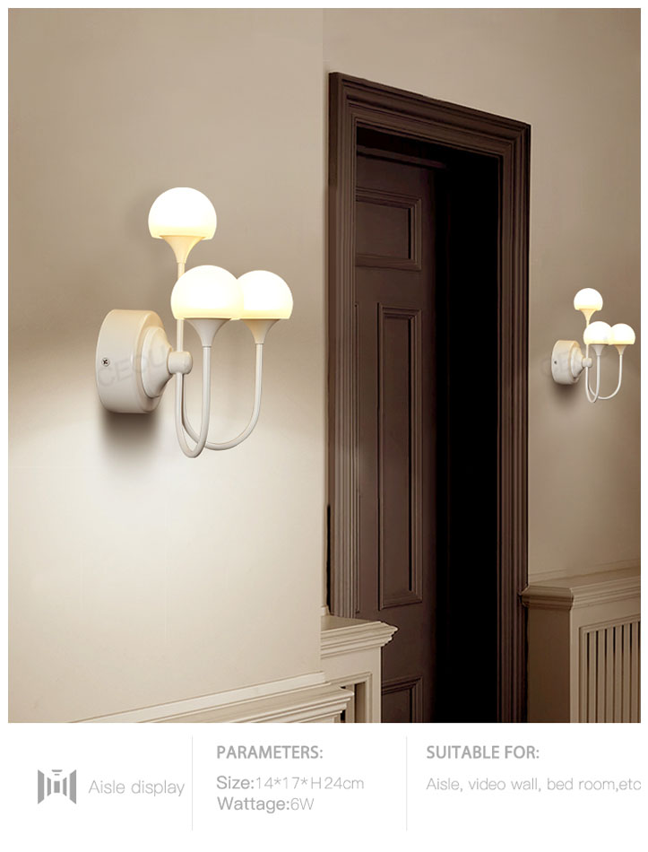 CEOU mushroom shaped glass wall lights manufacturer for home decor-9