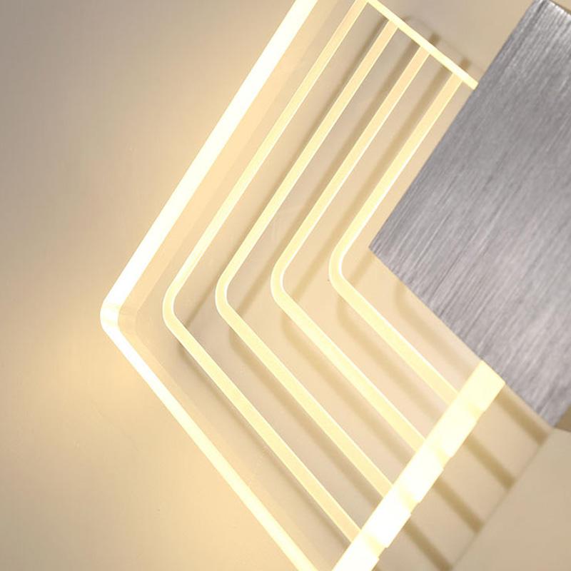 Modern indoor lozenge LED wall lamp CB1030A/B