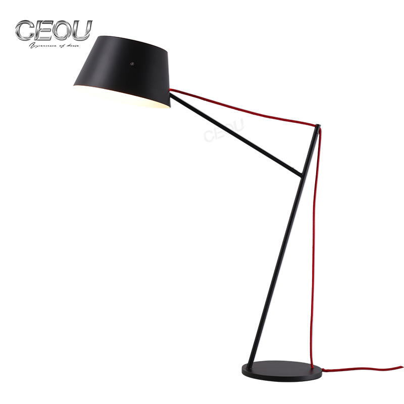 Black metal steel hotel bedroom bedside table lamp CT1027