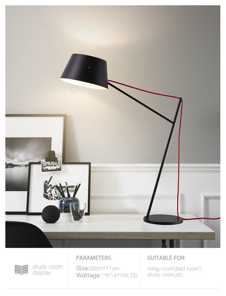 black reading lamp supplier for residential CEOU-7