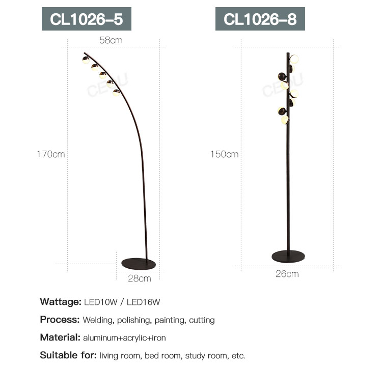 CEOU quality modern adjustable floor lamp customized for living room-4