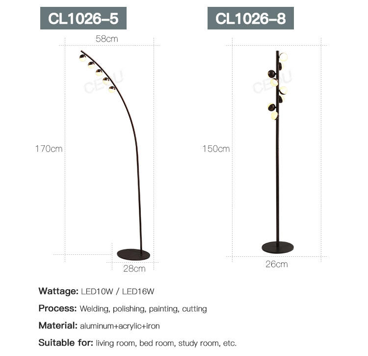 CEOU creative modern floor lamps high quality for hotel