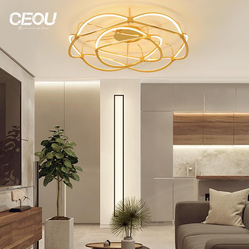 Romantic modern aluminum ceiling lamp/light CX1001