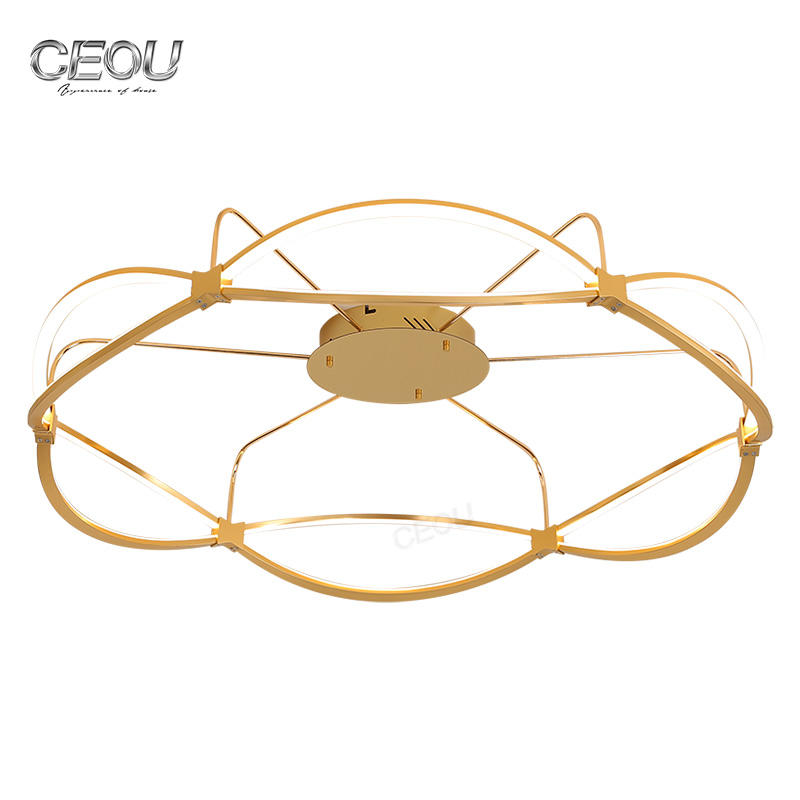 Romantic modern aluminum ceiling lamp/light CX1001