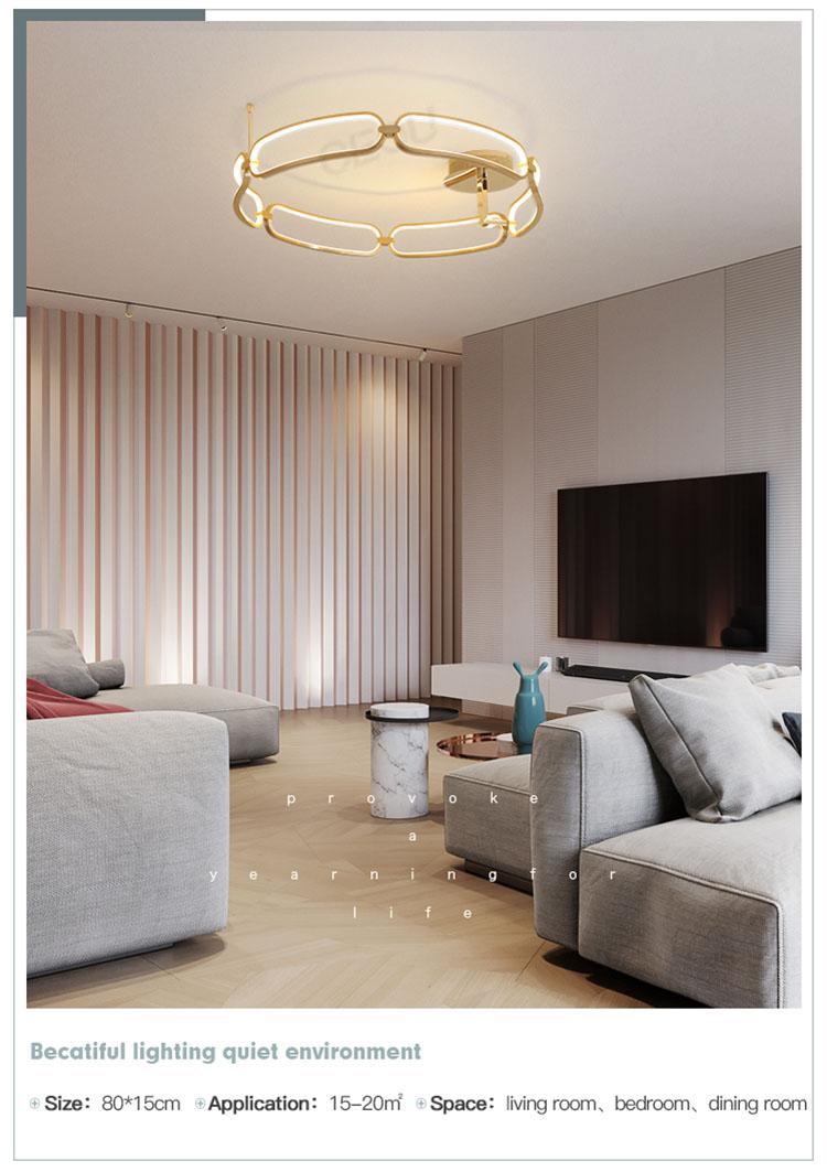 creative led kitchen ceiling lights flower shape customized for living room-8