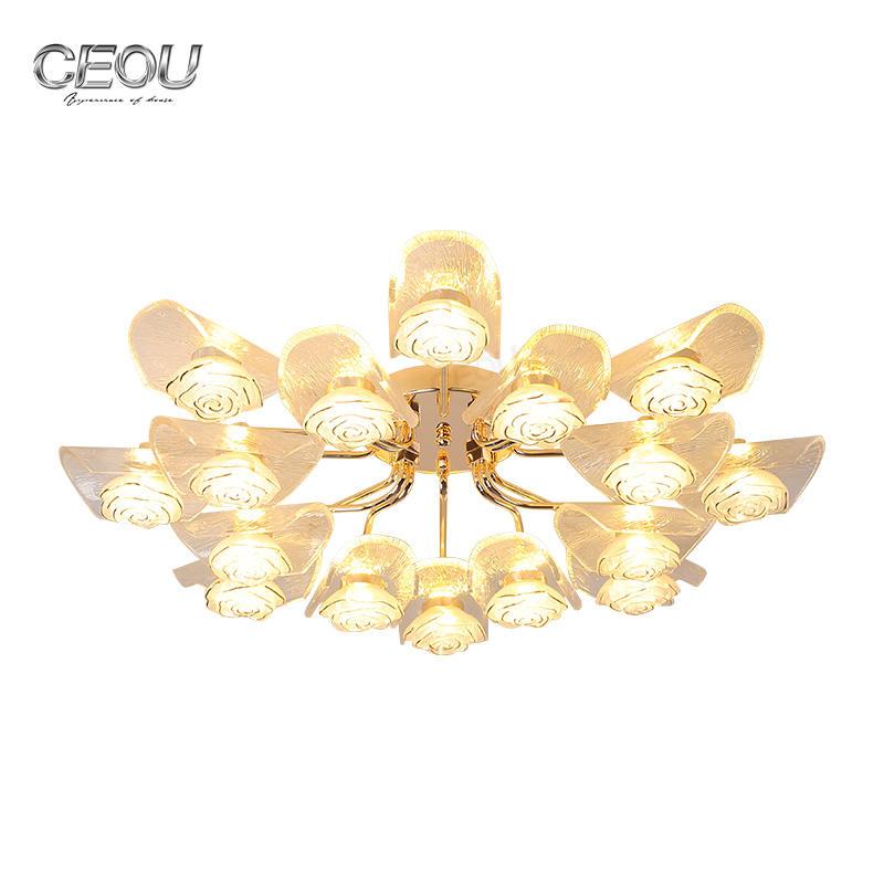 Original design modern glass flower ceiling light CX1016