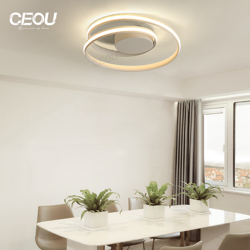 application-contemporary ceiling led panel light round manufacturer for living room-CEOU-img-1
