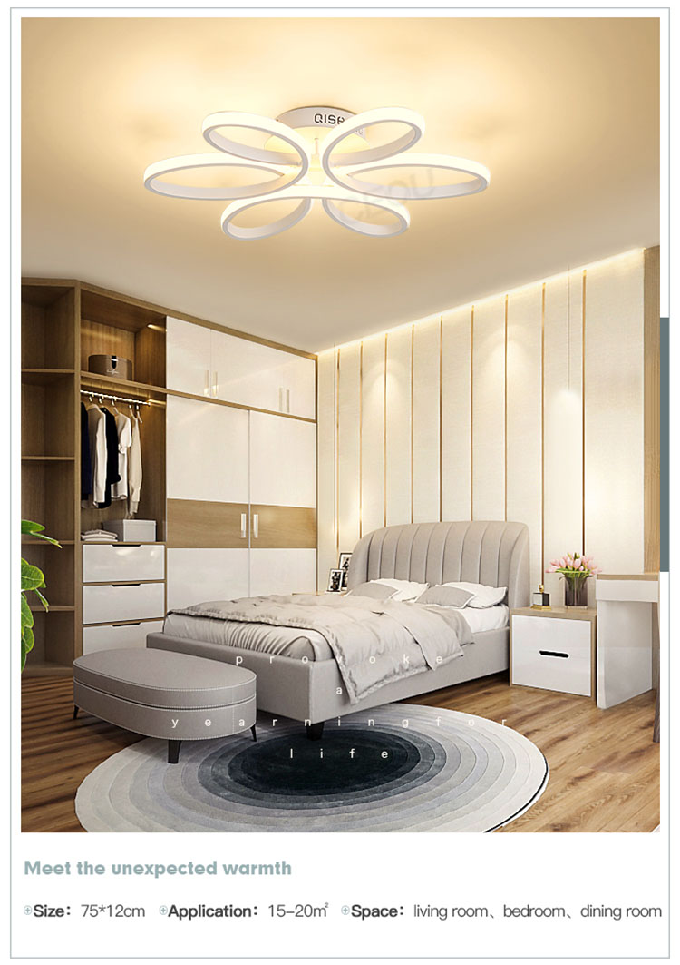 beautiful modern ceiling lights living room acrylic customized for hotel-9