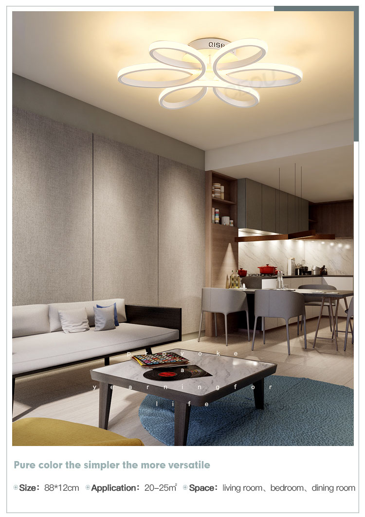 beautiful modern ceiling lights living room acrylic customized for hotel-10