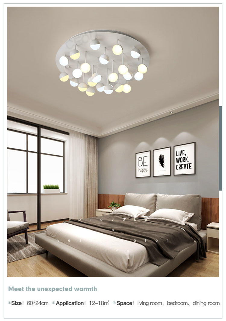 CEOU acrylic modern ceiling lights living room high quality for living room