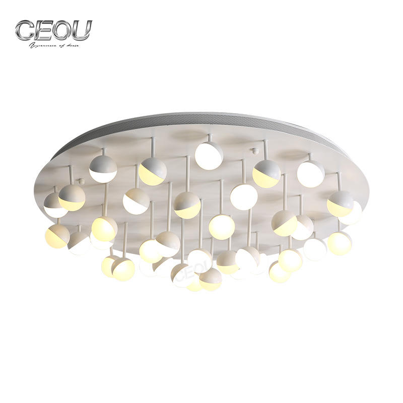 Modern aluminum LED ball hanging ceiling light CX1026