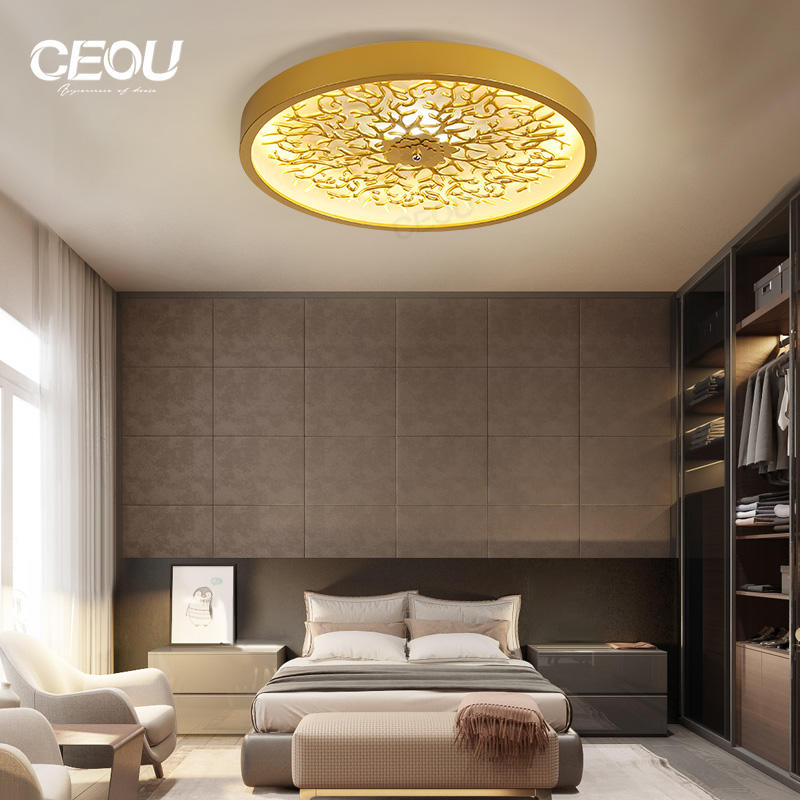 Hot sell round gold ceiling light modern for bedroom CX1029