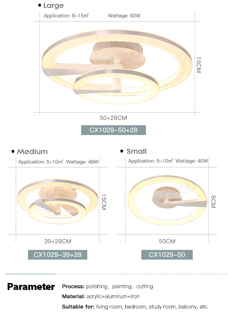 CEOU flower shape led ceiling light fixtures supplier for bedroom-4