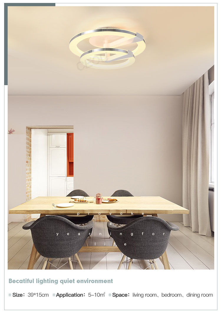 contemporary led ceiling lamp round manufacturer for home decor-8