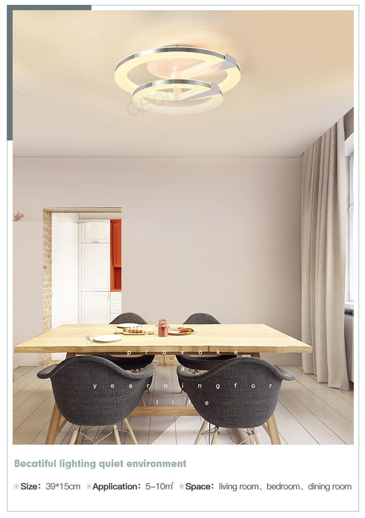 contemporary led ceiling lamp round manufacturer for home decor