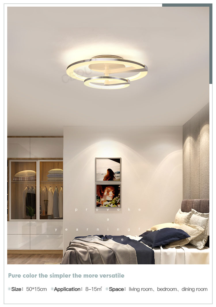 contemporary led ceiling lamp round manufacturer for home decor-10
