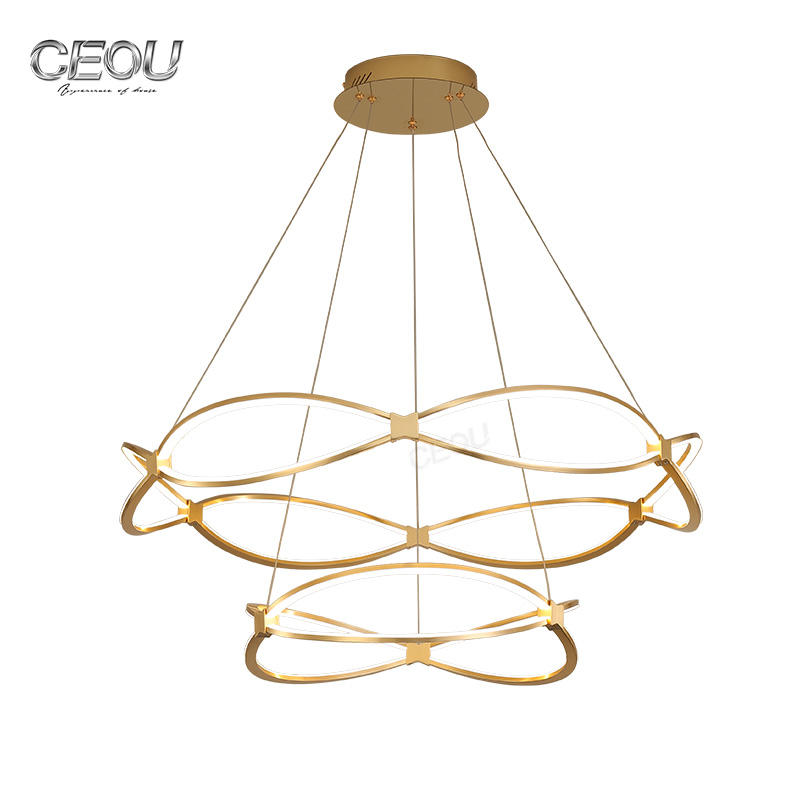 New design luxury gold chandelier pendant light CD1001