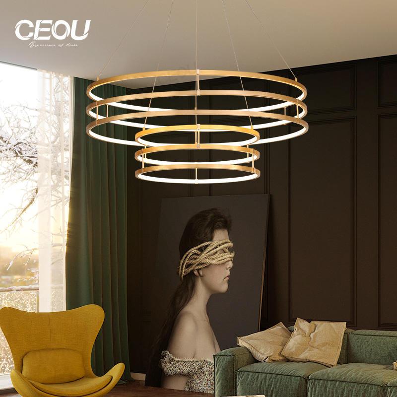Energy saving 2019 new modern circular led pendant light CD1004