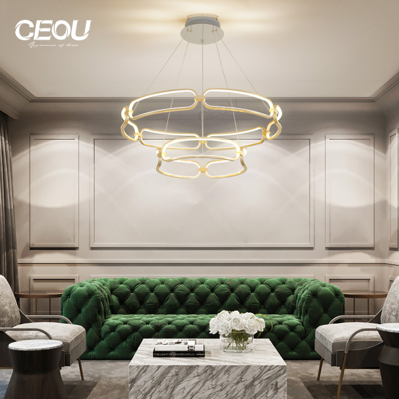 simple chandelier lamp flower shaped customized for dinning room-CEOU-img-1
