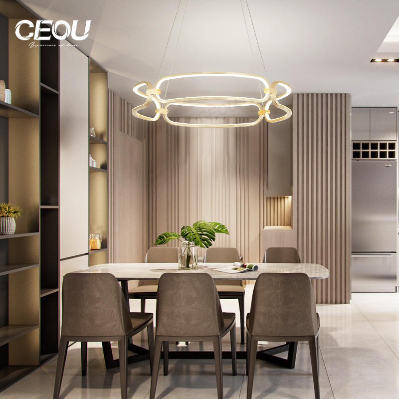 2019 new modern decorative circular LED pendant light CD1014