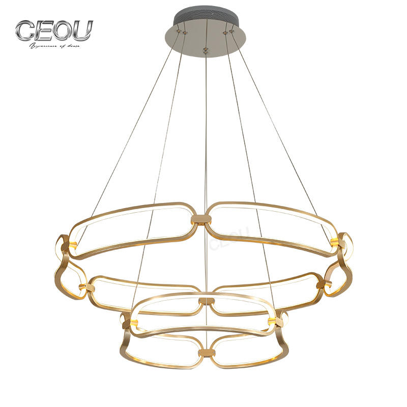 2019 new modern decorative circular LED pendant light CD1014