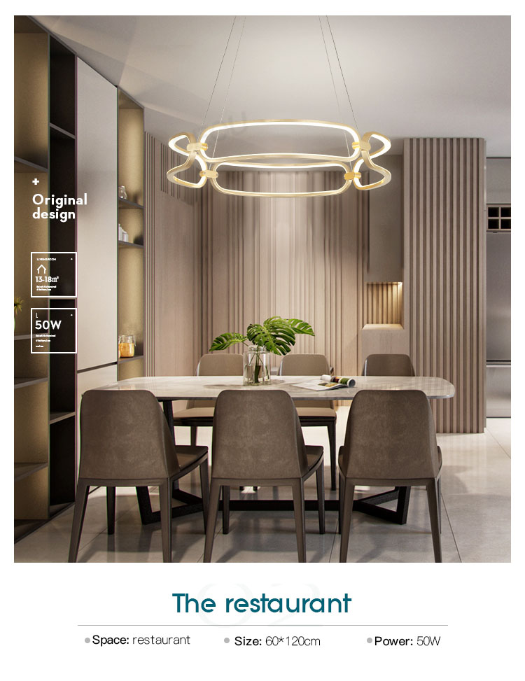 linear pendant lamp amazing for hotel CEOU-9