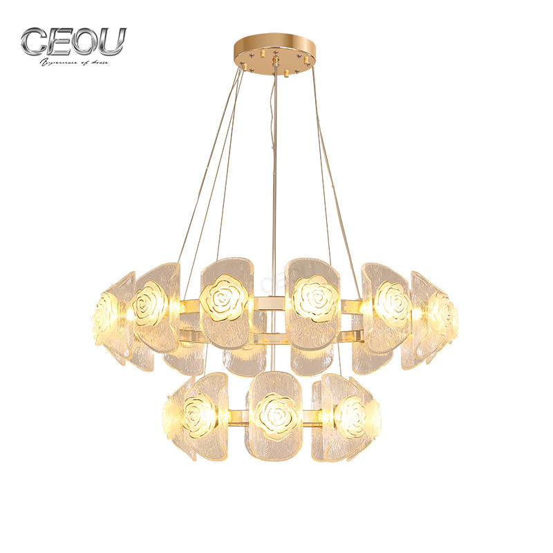 Modern Hanging Decorative LED Glass Pendant Light CD1016