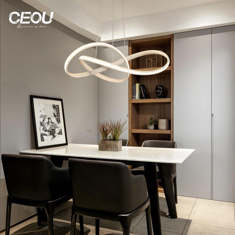 Simple Modern aluminum linear LED pendant light CD1019