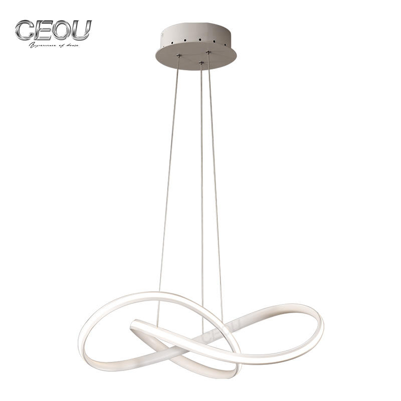 Simple Modern aluminum linear LED pendant light CD1019