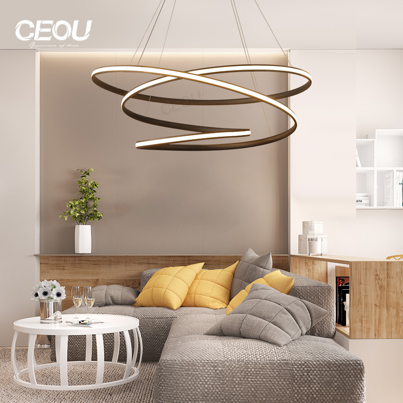 simple modern crystal chandelier acrylic customized for hotel-CEOU-img-1