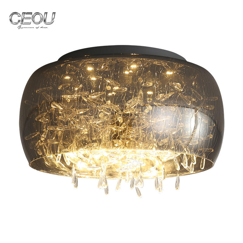 Hot sell round glass sahde ceiling light CX1024