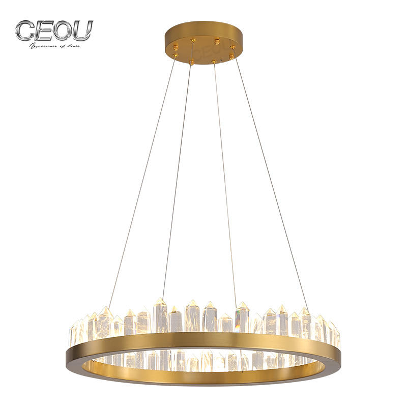 Decorative Hanging Circular Luxury Led Pendant Light CD1025