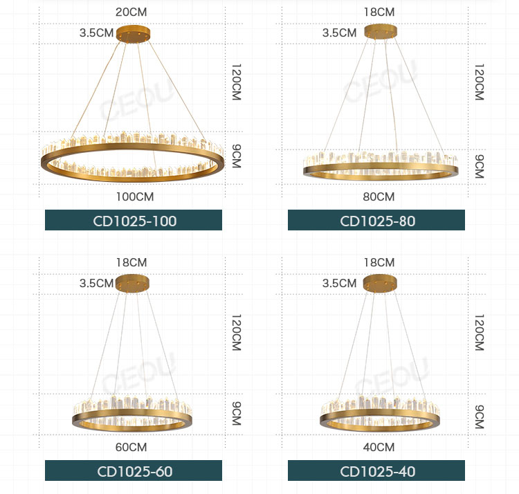 CEOU acrylic pendant chandelier manufacturer for dinning room-4