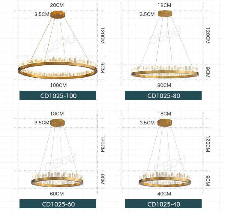 CEOU acrylic pendant chandelier manufacturer for dinning room