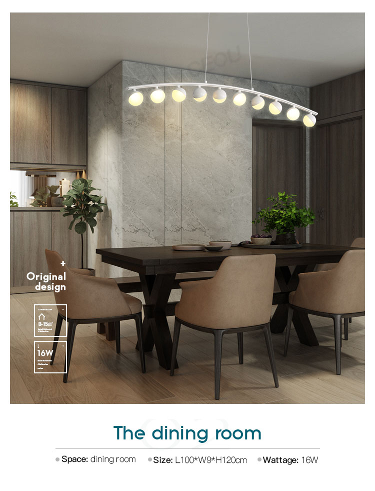 circular led pendant light customized for hotel CEOU-11