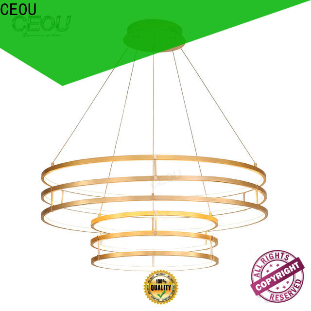 romantic commercial linear pendant lighting circular factory for living room