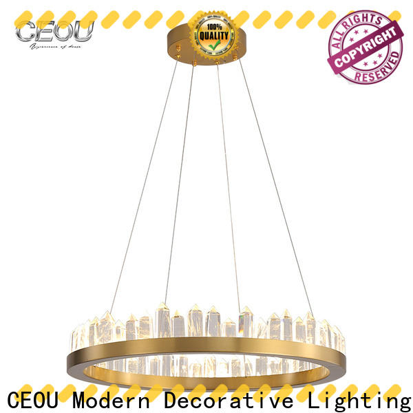 Top modern linear pendant glass manufacturer for hotel