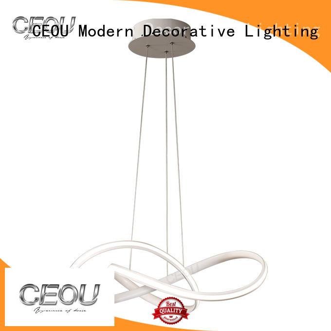 CEOU flower shaped decorative glass pendant light supplier for hotel