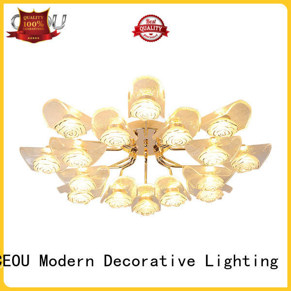 beautiful modern led ceiling lights glass supplier for home decor