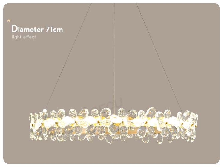 CEOU flower shaped modern pendant lighting kitchen supplier for home decor-3